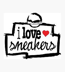 I Love Sneakers J11 Concords Photographic Print