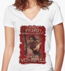 BioShock Infinite – Join the Vox Populi Women's Fitted V-Neck T-Shirt
