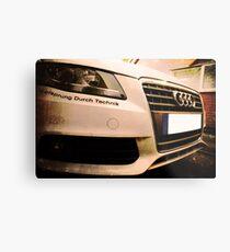 Audi A4 - Vorsprung Durch Technik Metal Print