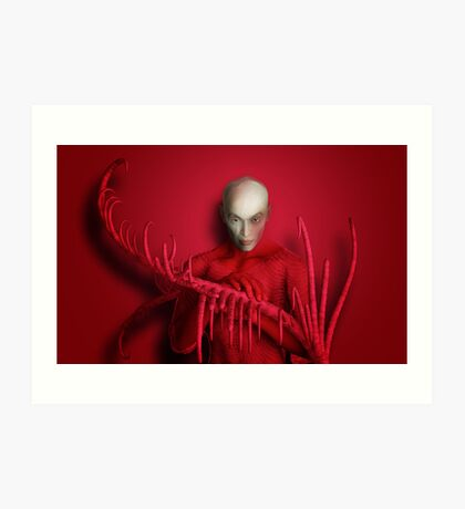 The Red Touch Art Print