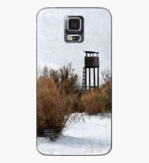 Vintage Hunting House in Winter Case/Skin for Samsung Galaxy