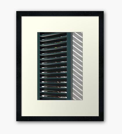 Window shutters, Den Haag Framed Print