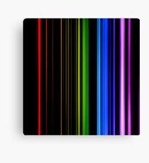 Vertical Rainbow Bars Canvas Print