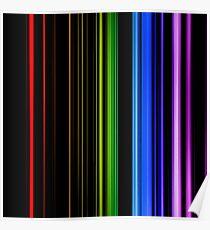 Vertical Rainbow Bars Poster