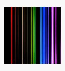 Vertical Rainbow Bars Photographic Print