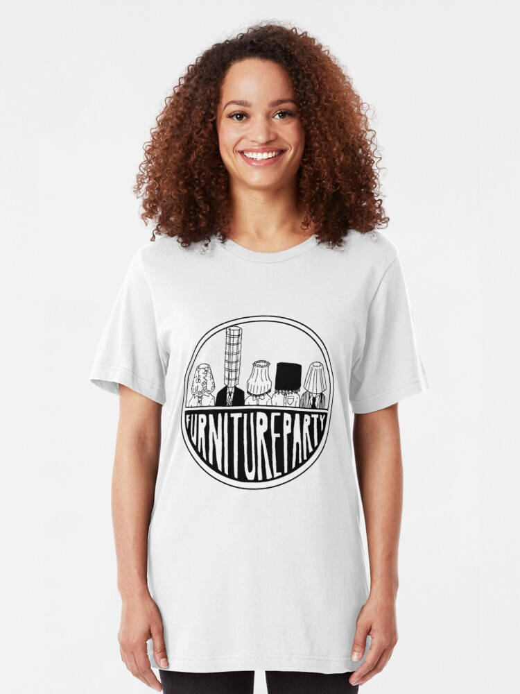 Alternate view of Furniture Party Band Logo Slim Fit T-Shirt