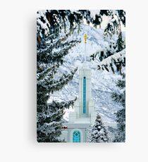 Mt. Timpanogos Temple Between the Evergreens 20x30 Canvas Print