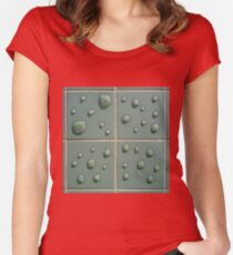 Droplets on the tiles (T-Shirt & iPhone case) Women's Fitted Scoop T-Shirt