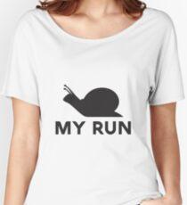 Snail Run Women's Relaxed Fit T-Shirt