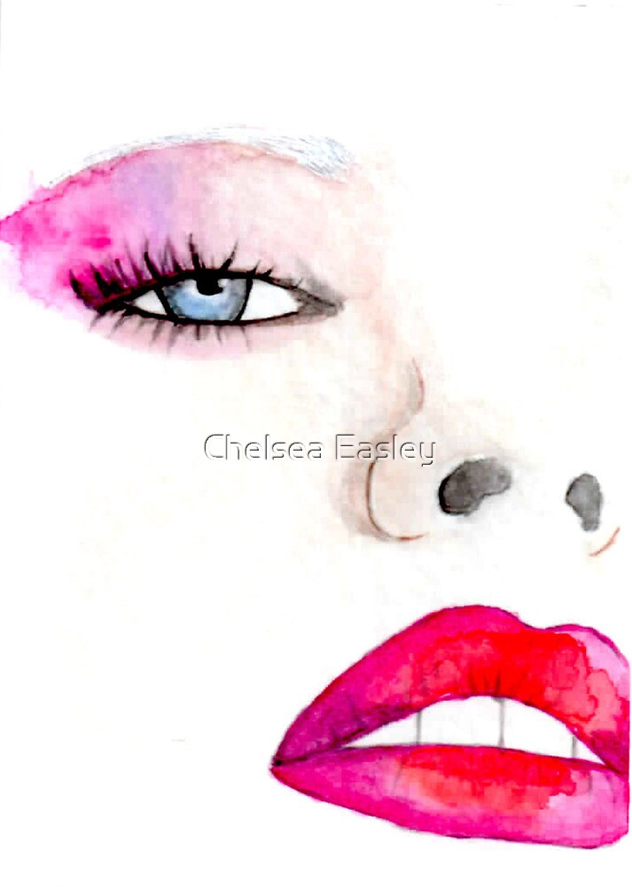 """""""Faces of Fashion"""" No.1 Fashion Illustration by Chelsea Easley"""