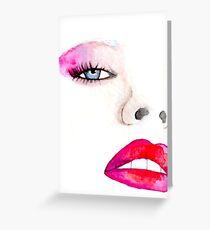 """Tarjeta de felicitación Ilustración de la moda """"Faces of Fashion"""" No.1"""