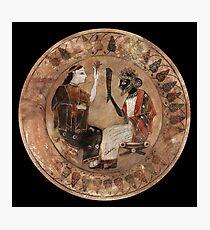 Coloured  Archaic Dionysos and Ariadne  Photographic Print