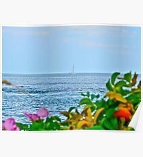 Sailing Out to the Block Island Sound - Narragansett Bay Poster