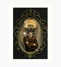 Steampunk Civil War Portrait: Silas Art Print