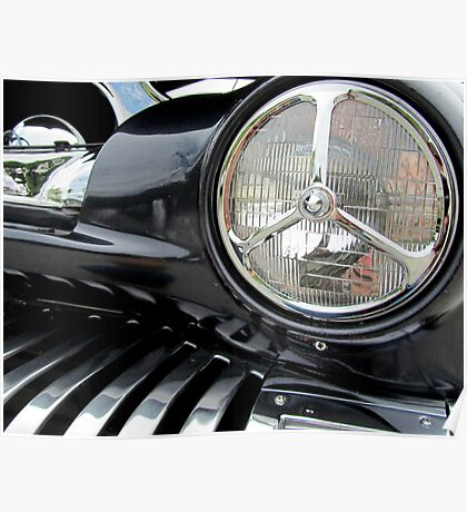 1951 Modified Merc Headlight Section Poster