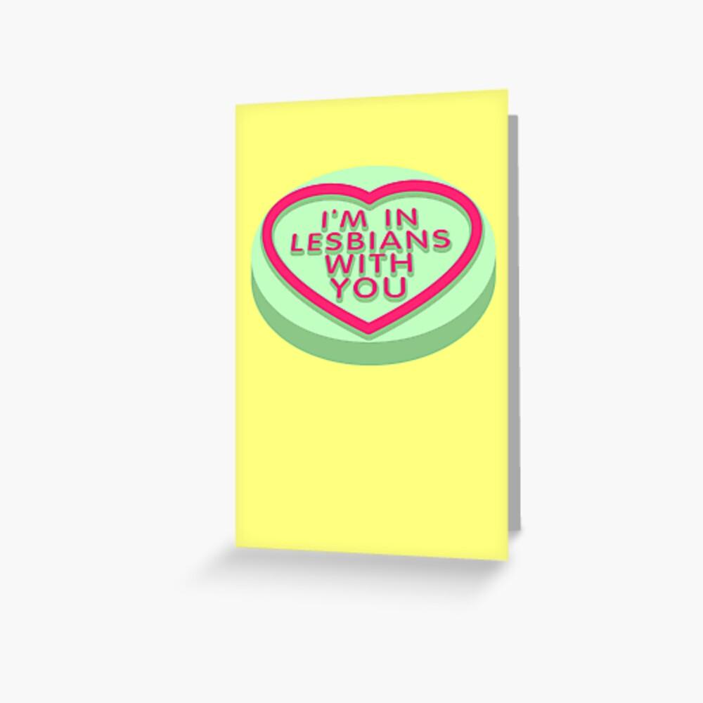 Candy Heart Pilgrim Grußkarte