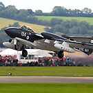 Sea Vixen take off by SWEEPER