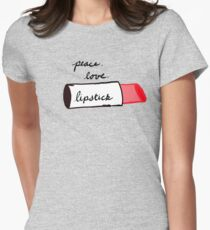 Peace, Love, Lipstick Women's Fitted T-Shirt