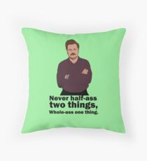 Ron Swanson Honour Code Throw Pillow