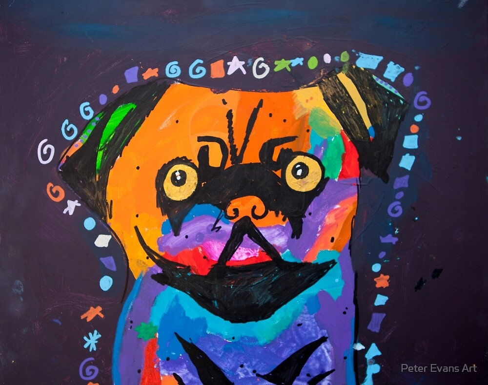 'Pug' by Brooke Johnson (2015) by Peter Evans Art