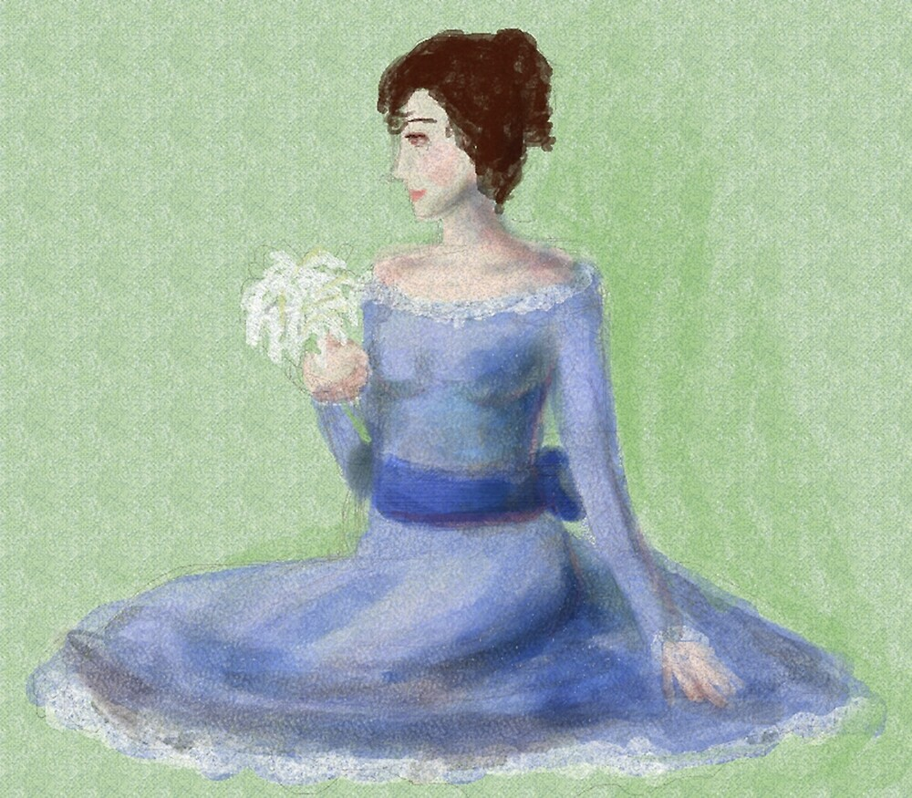 Lady in Blue by rosemaloney