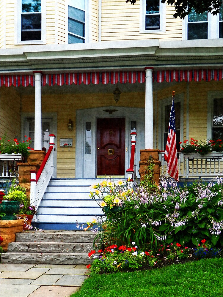 Porch With Front Yard Garden by Susan Savad
