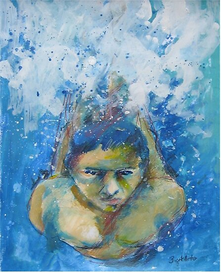 JUMP IN THE WATER by GittiArt