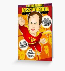 Joss Whedon Greeting Card