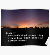 Definition of Insanity Poster