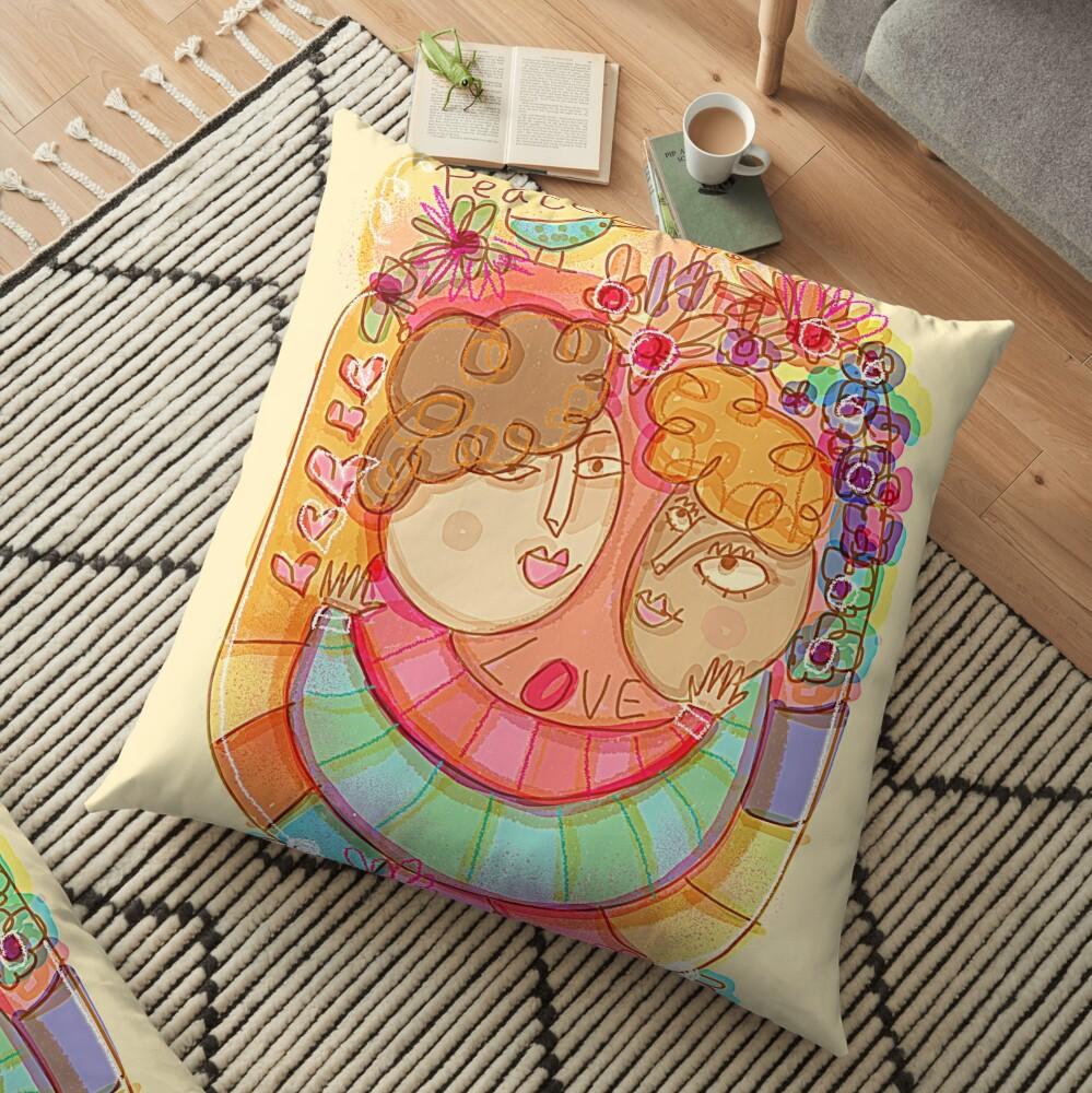 Love & Peace Floor Pillow