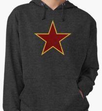 Vintage look Red and Gold Star Lightweight Hoodie
