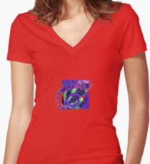 It's Not Just Hardcore - Spiral Vibe Women's Fitted V-Neck T-Shirt