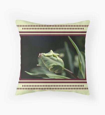 Parrot Tulip Bud Throw Pillow
