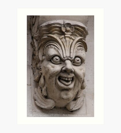 Paris gargoyle Art Print