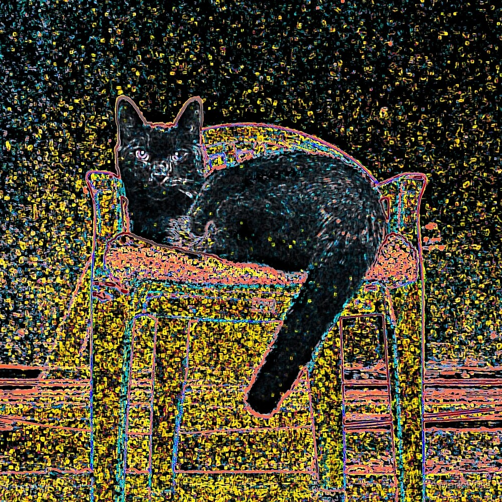 Cat In Chair #1a by Mark Ross