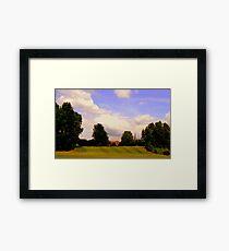 Down hill field Framed Print