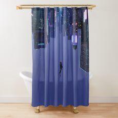 Not Falling, But Rising Shower Curtain