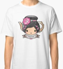 China Rose Teapot Classic T-Shirt
