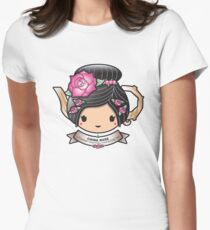 China Rose Teapot Women's Fitted T-Shirt