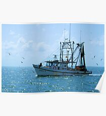 Shrimp Boat Jimmy T Rockport TX Poster