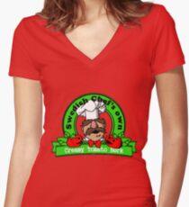 Tomato Bork Women's Fitted V-Neck T-Shirt