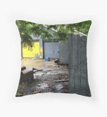 Rear of Abandoned Rental Properties, St. Paul, MN Throw Pillow