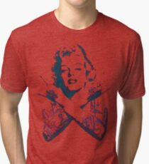 Punk Marilyn Tri-blend T-Shirt