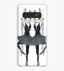 Black ballerina, dancers with pearl necklace, twenties Case/Skin for Samsung Galaxy