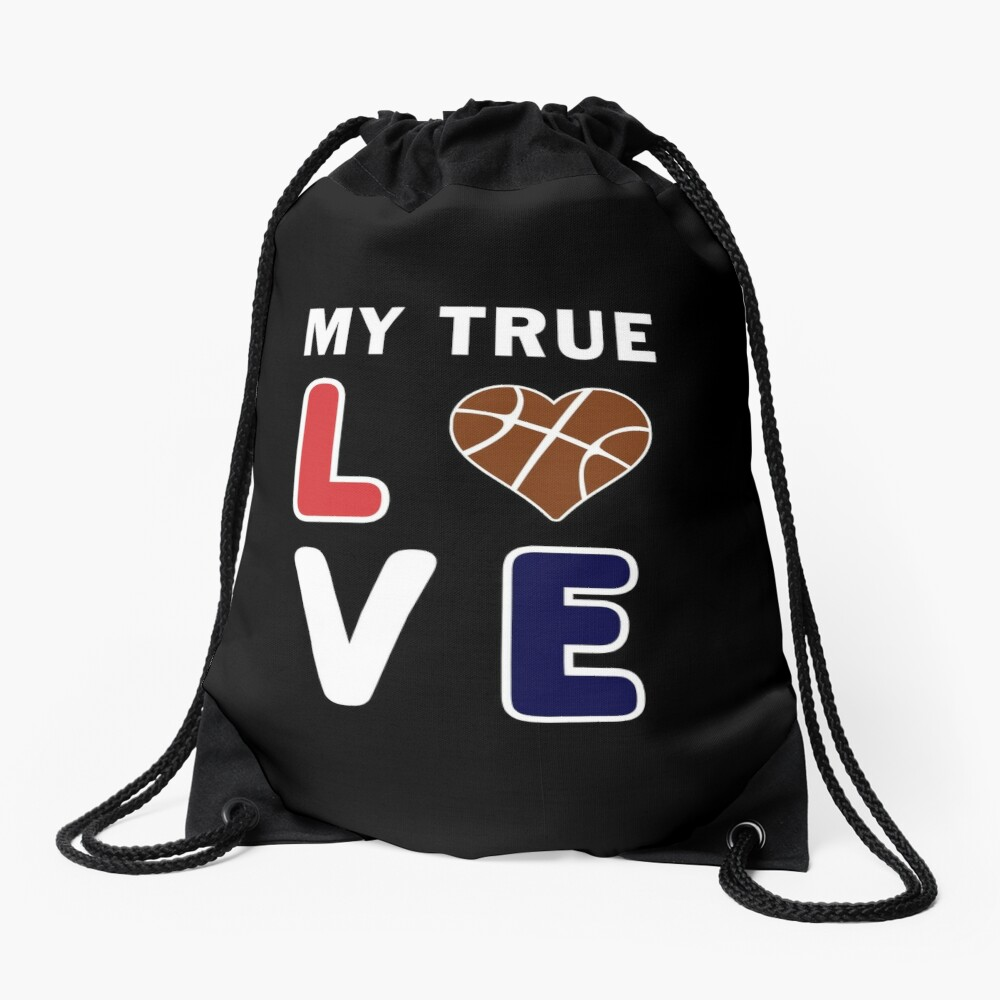 Basketball My True Love kids Coach Team Lover Gift. Drawstring Bag