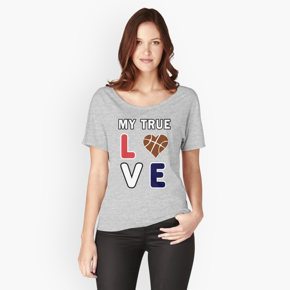 Basketball My True Love kids Coach Team Lover Gift. Relaxed Fit T-Shirt