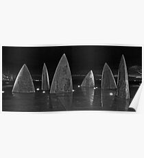 Sails in Black and White Poster