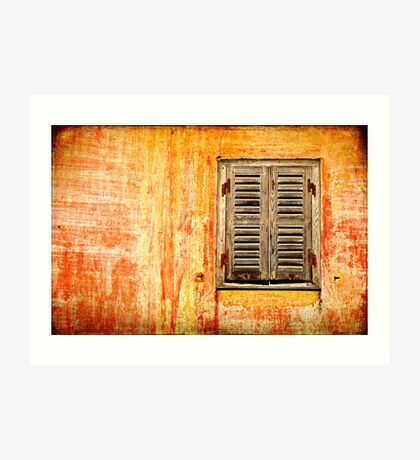 Window and amazing wall Art Print