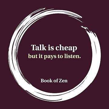 Motivational Quote About Listening & Talking by bookofzen