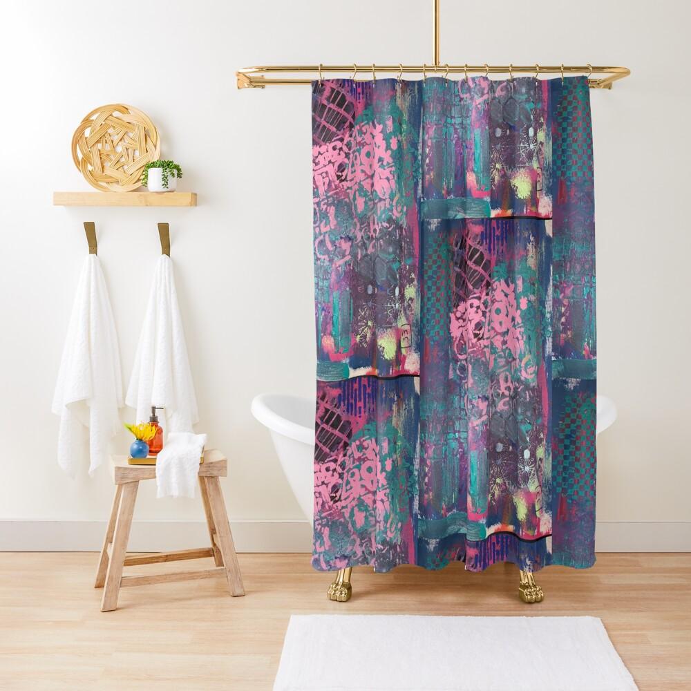 Grungy Pink Princess   Shower Curtain